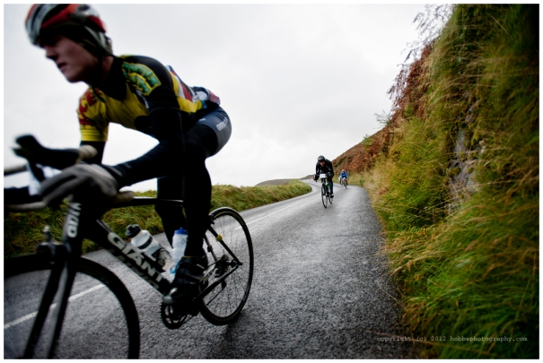 One of the first riders to come flying down Countisbury Hill