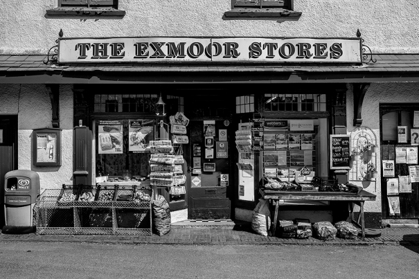 The village shop in Exford
